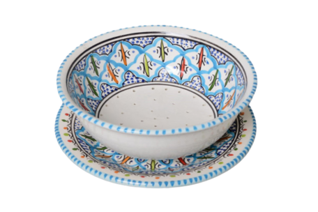Fruit-test Turquoise blue fine 20 cm | FT.BC.20 | Dishes & Deco
