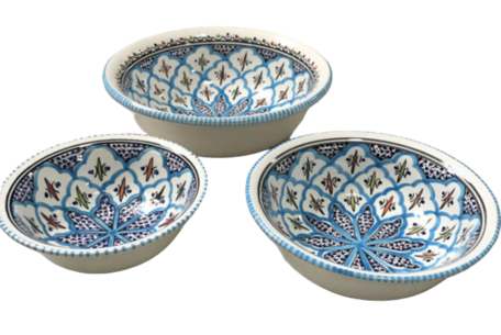 Salade set 3 delig Turquoise blue fine | TB.SK.3D | Dishes & Deco