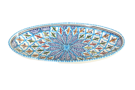 Ovale schaal Turquoise blue fine 40 cm | OS.BC.40 | Dishes & Deco