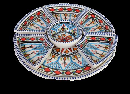 8 delige Tapas schaal Mehari Ø 30 cm | TS.ME.35 | Dishes & Deco
