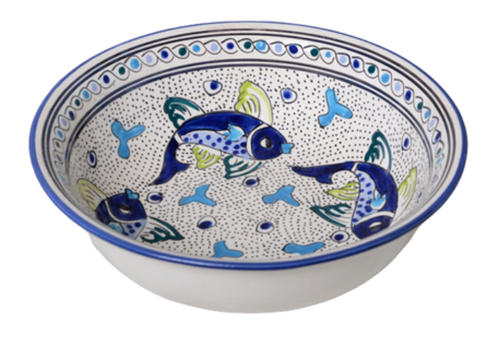 Saladier Poisson Ø 30 cm | SS.AD.30 | Dishes & Deco