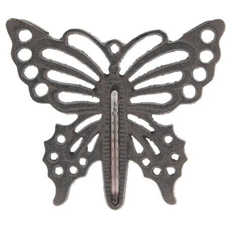 Thermometer vlinder 17*15 cm Bruin | 6Y3006 | Clayre & Eef