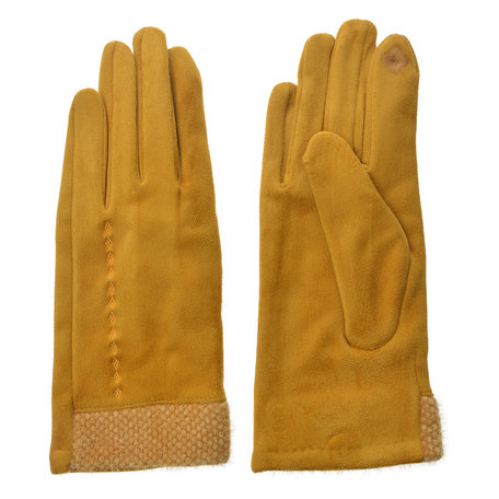 Handschoenen 8*24 cm Geel | JZGL0035Y | Clayre & Eef