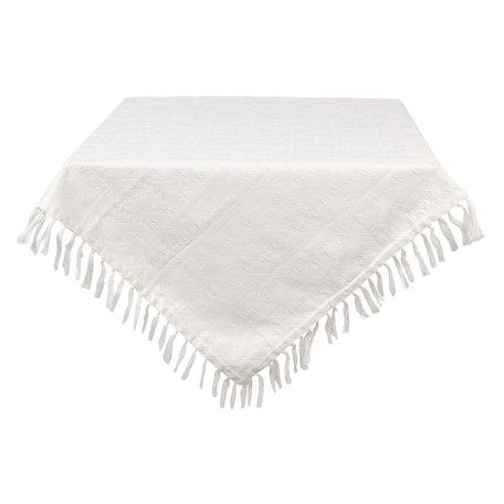Tafelkleed 100*100 cm Creme | CJQ01 | Clayre & Eef