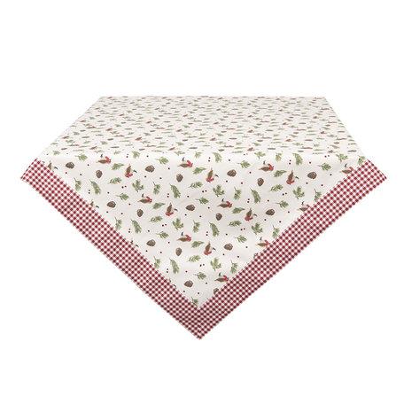Tafelkleed 100*100 cm Rood | RBI01 | Clayre & Eef