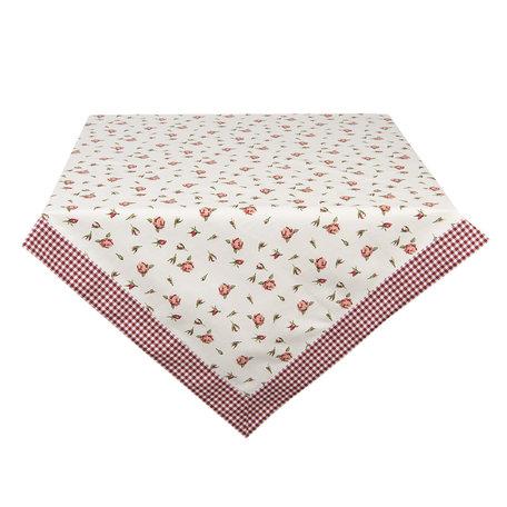 Tafelkleed 100*100 cm Rood | ROR01 | Clayre & Eef