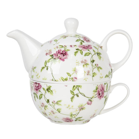 Tea for one set 17*11*14 cm / 0,4L Multi | ROTEFO | Clayre & Eef