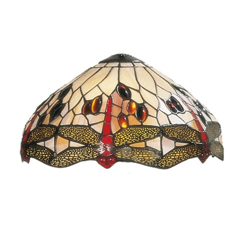 Lampenkap Tiffany ø 30 cm Beige | 5LL-1100 | Clayre & Eef