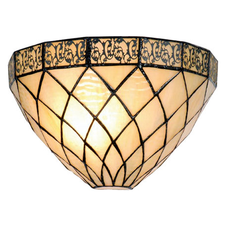 Wandlamp Tiffany 30*15*20 cm E14/max 1*40W Creme | 5LL-1138 | Clayre & Eef