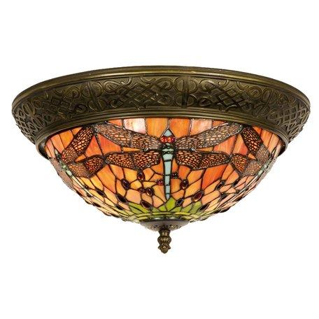 Plafondlamp Tiffany ø 38*19 cm E14/max 2*40W Multi   5LL-5360   Clayre & Eef