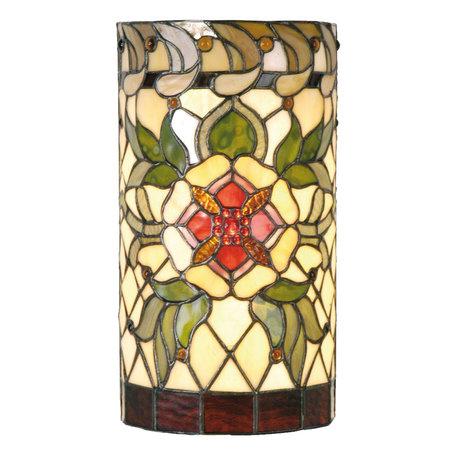 Wandlamp Tiffany 20*11*36 cm E14/max 2*40W Meerkleurig | 5LL-9906 | Clayre & Eef