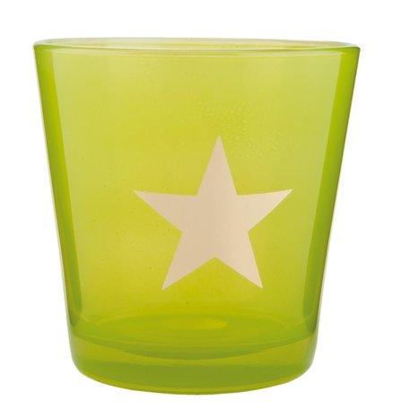 Waxinelichthouder ø 10*10 cm Groen | 6GL1547GR | Clayre & Eef