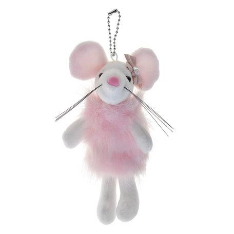 Decoratie knuffel muis  Roze | MLLLTW0003 | Clayre & Eef