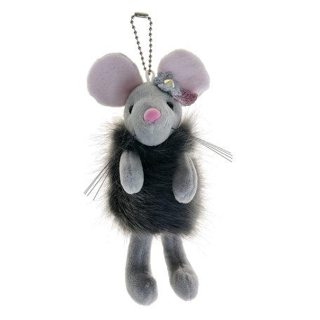 Decoratie knuffel muis  Grijs | MLLLTW0004 | Clayre & Eef