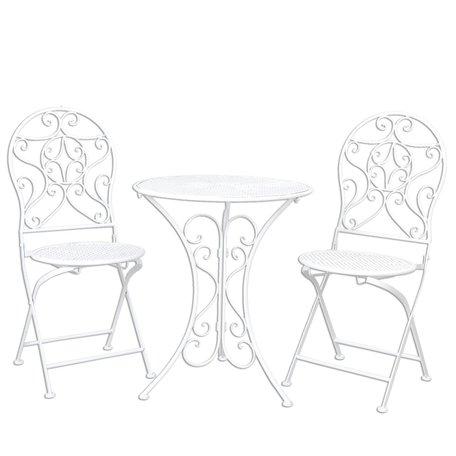 Tafel + 2 stoelen ø 60*70 / 40*40*92 cm (2) Wit | 5Y0190 | Clayre & Eef