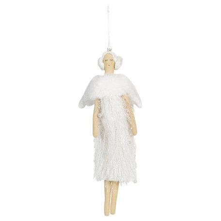 Decoratie Engel 13*31 cm Wit | TW0530 | Clayre & Eef