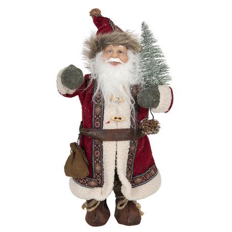 Decoratie kerstman 14*11*30 cm Multi | 64639 | Clayre & Eef