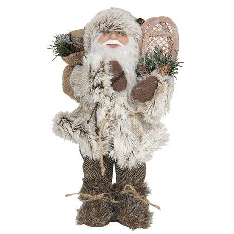 Decoratie kerstman 15*11*30 cm Grijs | 64642 | Clayre & Eef