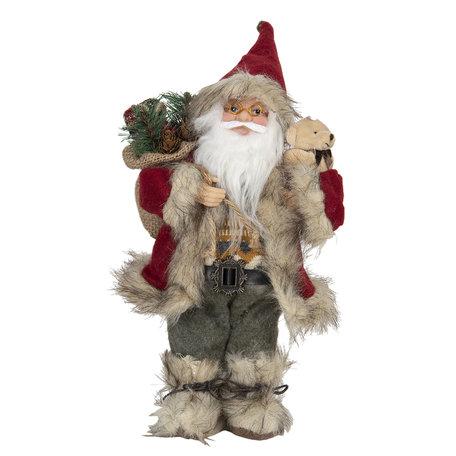 Decoratie kerstman 15*11*30 cm Multi | 64643 | Clayre & Eef