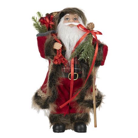 Decoratie kerstman 15*11*30 cm Rood | 64644 | Clayre & Eef