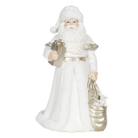 Decoratie kerstman 17*17*31 cm Wit | 6PR3056 | Clayre & Eef