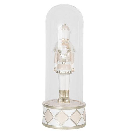 Decoratie notenkraker ø 12*32 cm Zilverkleurig | 6PR3062 | Clayre & Eef