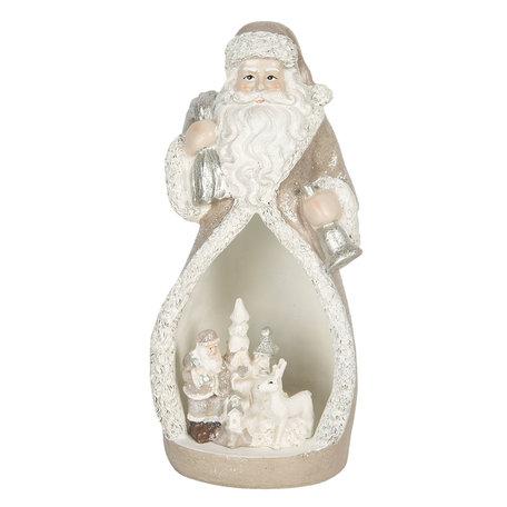 Decoratie kerstman LED 8*7*17 cm Creme | 6PR3069 | Clayre & Eef