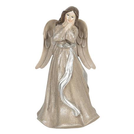 Decoratie engel 10*10*18 cm Creme | 6PR3070 | Clayre & Eef