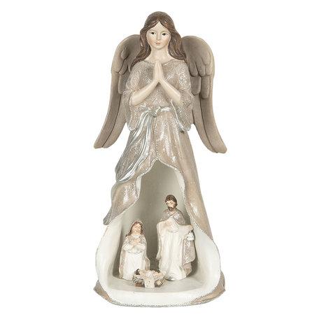 Decoratie engel LED 12*11*25 cm Creme | 6PR3071 | Clayre & Eef