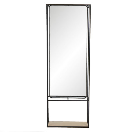 Spiegel 40*15*115 cm Zwart   52S230   Clayre & Eef
