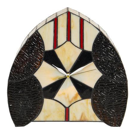 Tafelklok / lamp Tiffany 30*12*28 cm E14/max 1*25W Meerkleurig | 5LL-6076 | Clayre & Eef