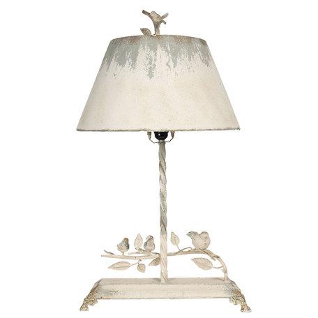 Tafellamp 44*43*75 cm E27 / max 1*60W Wit   5LMP311   Clayre & Eef