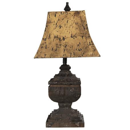 Tafellamp 32*32*66 cm E27 /max 1*60W Bruin   5LMP313   Clayre & Eef