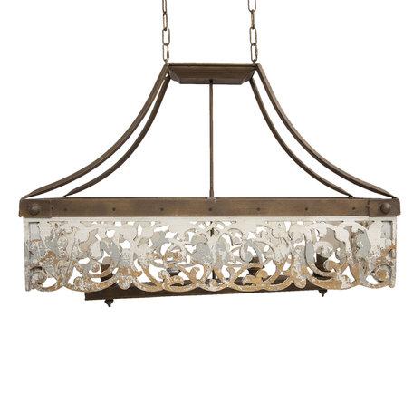 Hanglamp 92*37*63 cm Wit | 5LMP321 | Clayre & Eef