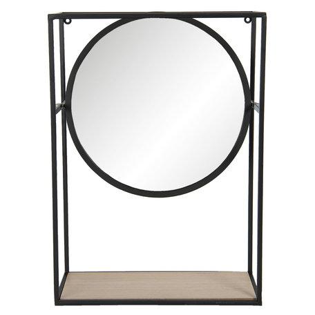 Spiegel 36*15*50 cm Zwart   62S213   Clayre & Eef