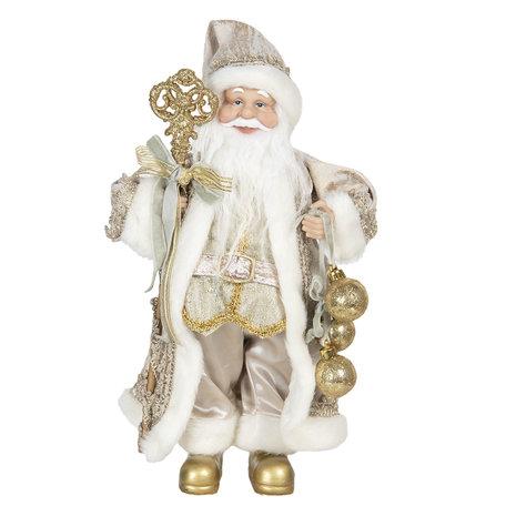 Decoratie kerstman 15*11*30 cm Goudkleurig | 64640 | Clayre & Eef