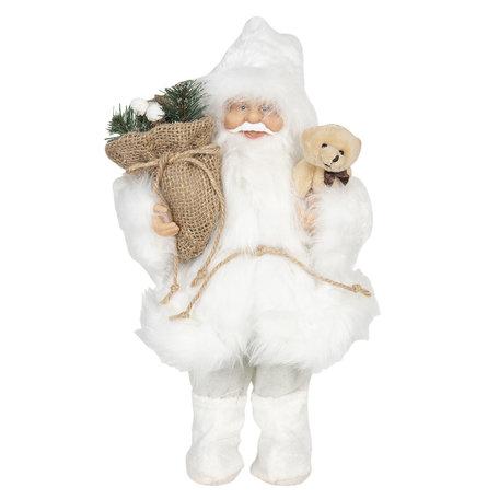 Decoratie kerstman 15*11*30 cm Wit | 64641 | Clayre & Eef