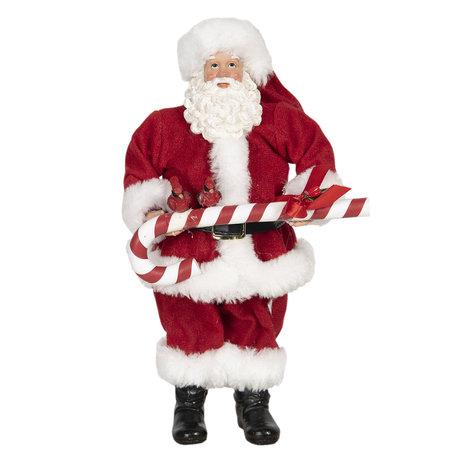 Decoratie kerstman 14*14*28 cm Multi | 64647 | Clayre & Eef