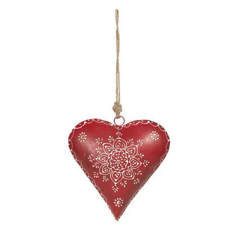 Decoratie hanger hart 21*6*21 cm Rood | 6Y4161 | Clayre & Eef
