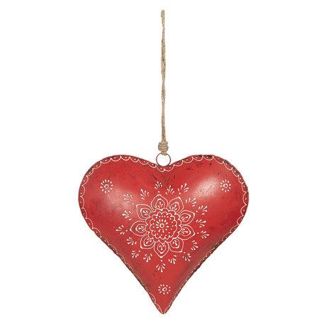 Decoratie hanger hart 27*12*27 cm Rood | 6Y4162 | Clayre & Eef