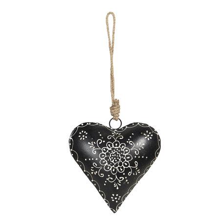 Decoratie hanger hart 16*4*16 cm Zwart | 6Y4164 | Clayre & Eef