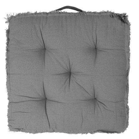 Kussen met foam 45*45*8 cm Grijs | KG029.001G | Clayre & Eef