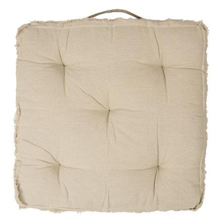 Kussen met foam 45*45*8 cm Creme | KG029.001N | Clayre & Eef