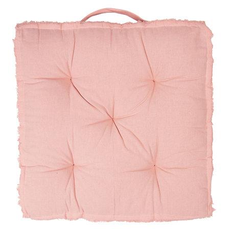 Kussen met foam 45*45*8 cm Roze | KG029.001P | Clayre & Eef