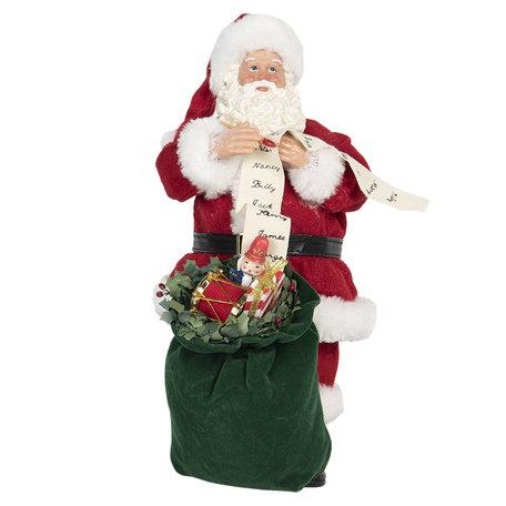 Decoratie kerstman 17*13*28 cm Multi | 64651 | Clayre & Eef