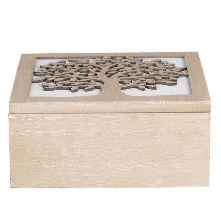 Kist van hout 20*20*9 cm Bruin | 6H1941 | Clayre & Eef