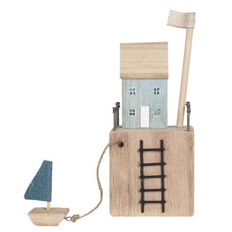 Decoratie huis 11*7*11/27 cm Multi | 6H1946 | Clayre & Eef