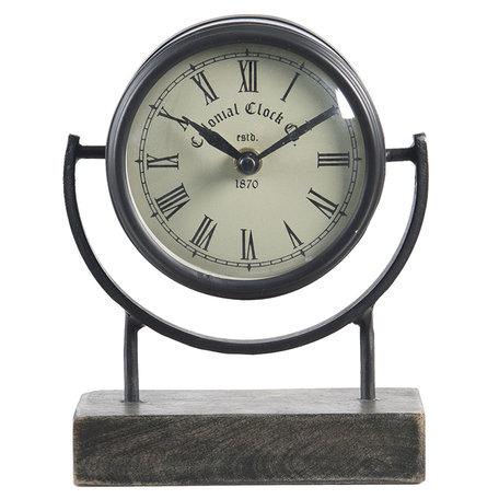 Tafelklok 14*6*18 cm / 1*AA Bruin | 6KL0659 | Clayre & Eef