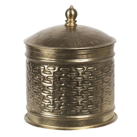 Metalen doosje ø 15*18 cm Koperkleurig | 6Y4049 | Clayre & Eef