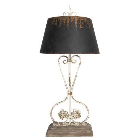 Tafellamp 48*48*105 cm E27/max 1*60W Bruin   5LMP297   Clayre & Eef
